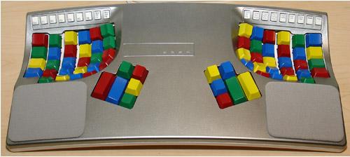 Painted Kinesis Keyboard