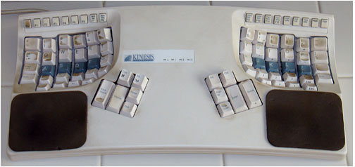 Grimy Kinesis Keyboard