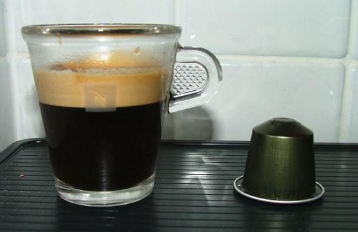 Nespresso pod and espresso