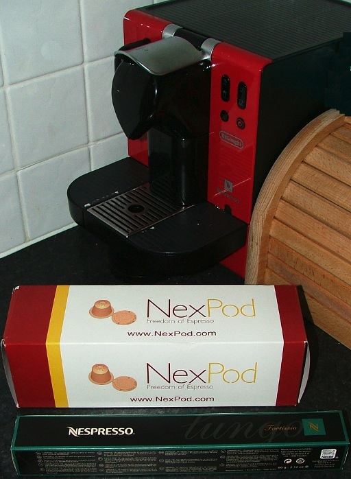 Nespresso machine, Nexpods and Nespresso pods