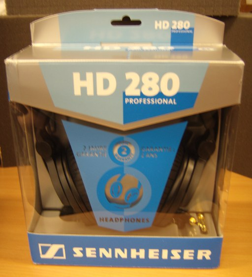 Sennheiser HD280Pro headphones in box