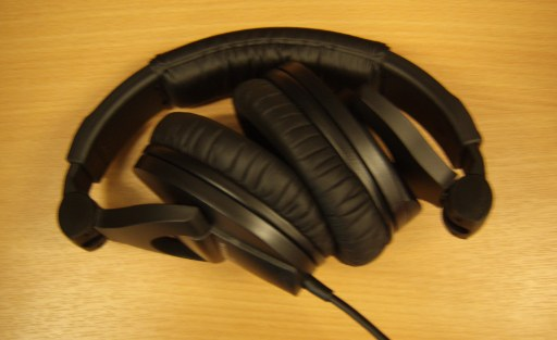 Sennheiser HD280 Pro headphones folded up