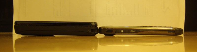 N900 vs E71 - Side-by-Side Side View