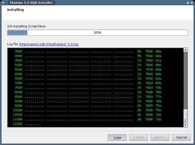PyMaemo SDK Installation Screenshot