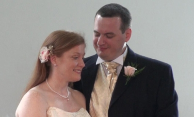 Claire and me just after getting married!