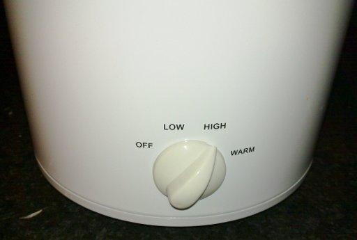 Crockpot controls...