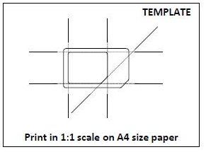 MiniSIM-to-MicroSIM cutting template