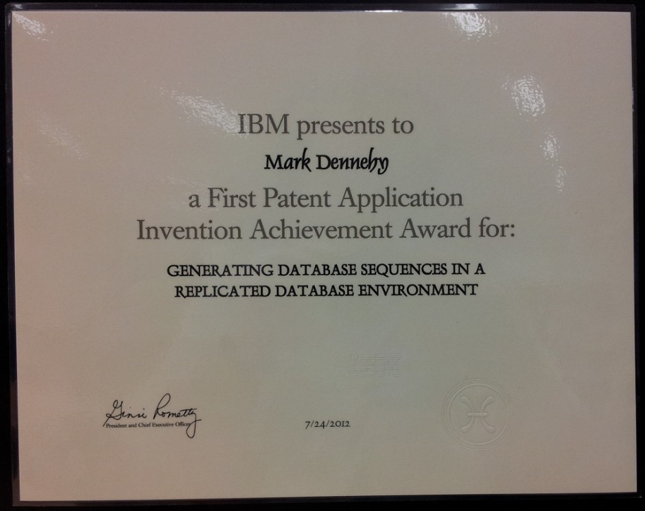 IBM Patent Award #1